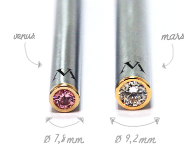 Mars Venus slim cigarette electronique bout diamant